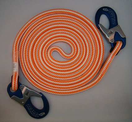 Braided Safety Blue Double Positioning Lanyard